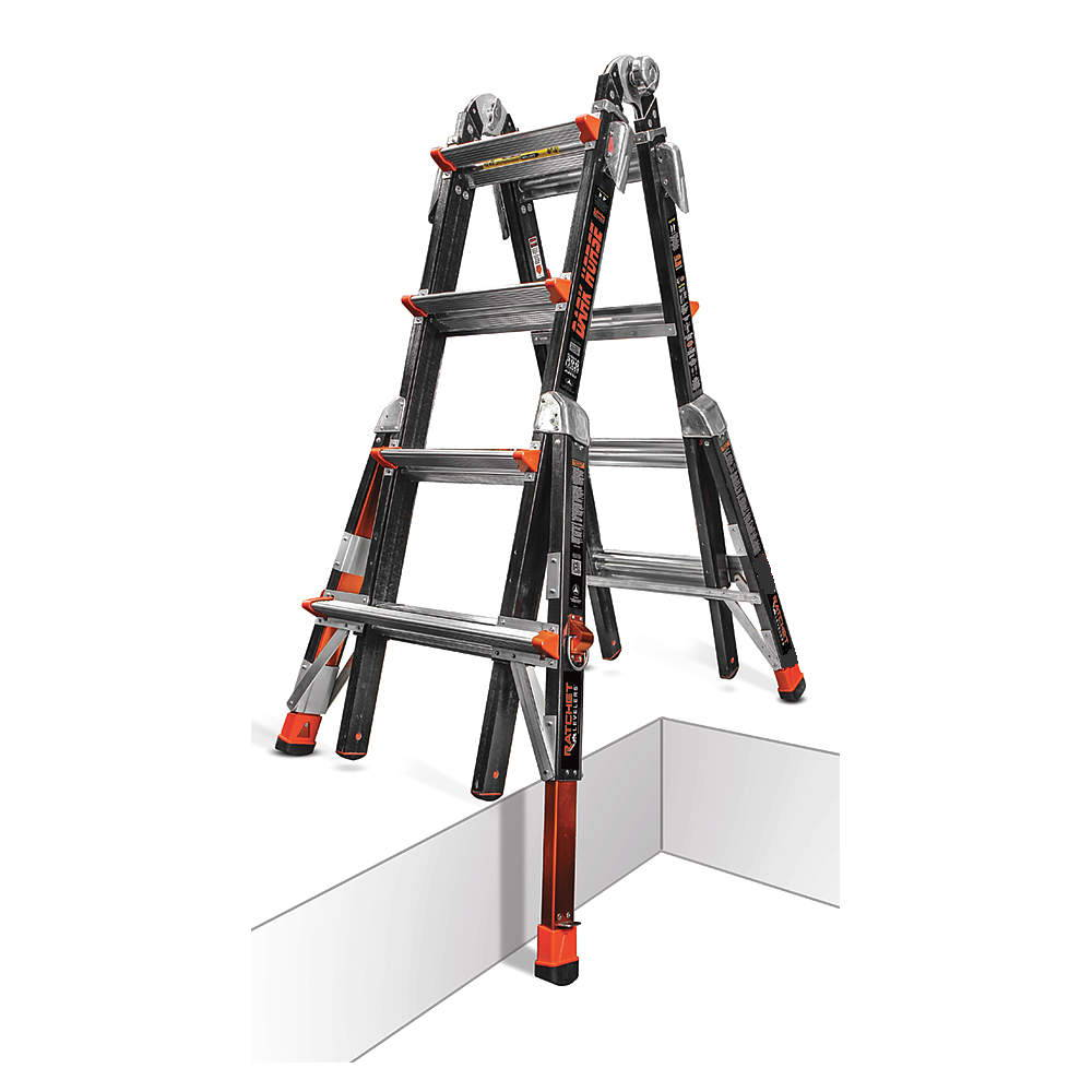 17 1a Fiberglass Little Giant Dark Horse Ladder W Ratchet