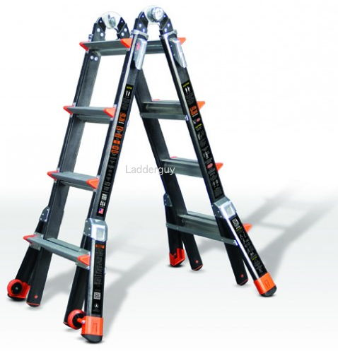17 1a Fiberglass Little Giant Dark Horse Ladder 15147 Ebay