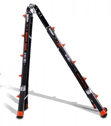 22 1a Fiberglass Little Giant Dark Horse Ladder W Platform