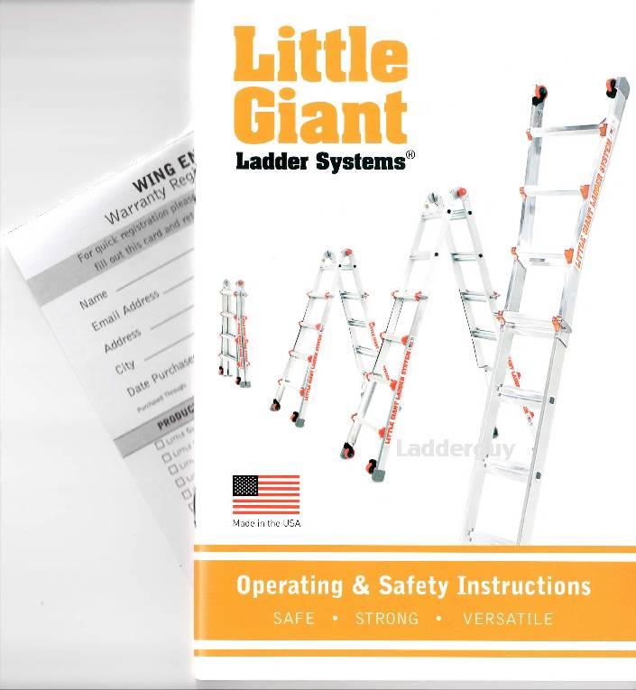 Little Giant Ladder Operating Amp Safety Instruction Booklet