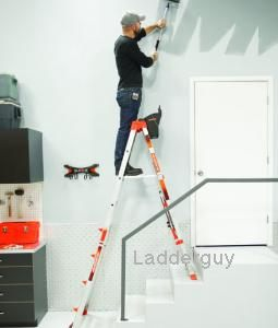 Little giant select step ladder 5 8 airdeck 15125 new ebay - How to put ladder on stairs ...